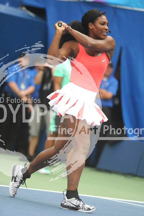 Serena Williams attending Arthur Ashe Kids Day 2015 at the US Open at USTA Billie Jean King National Tennis Center on August 29, 2015 in New York City