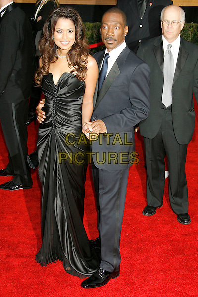 TRACEY EDMONDS & EDDIE MURPHY.Red Carpet Arrivals - 13th Annual Screen Actors Guild (SAG) Awards, held at the Shrine Auditorium, Los Angeles, California, USA, 28 January 2007..full length couple black dress strapless tracy.CAP/ADM/RE.©Russ Elliot/AdMedia/Capital Pictures.