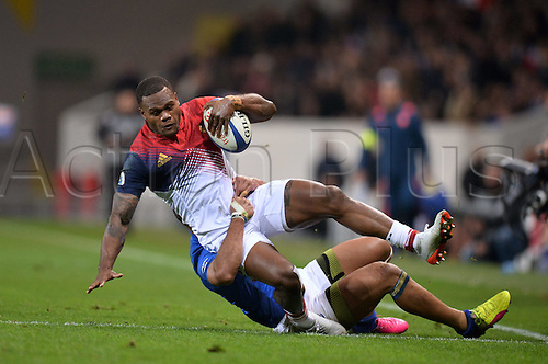 12.11.2016. Stadium Toulouse, Toulouse, France. Autumn International rugby match, France versus Samoa.  Virimi Vakatawa (fra)