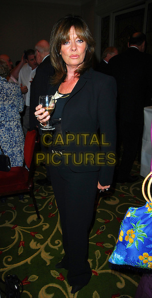 VICKY MICHELLE.June Brown Tribute Luncheon, Grosvenor House, London, UK..October 15th, 2006.Ref: CAN.full length black jacket trousers drink.www.capitalpictures.com.sales@capitalpictures.com.©Can Nguyen/Capital Pictures