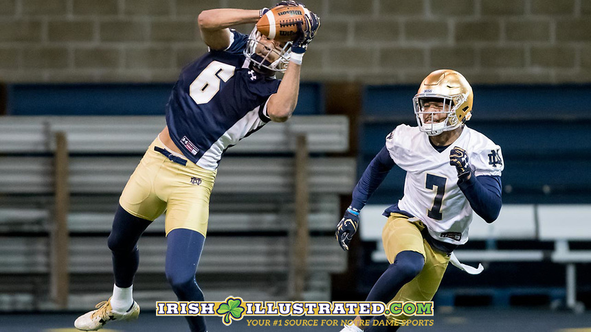 WR Equanimeous St. Brown (6) CB Nick Watkins (7)