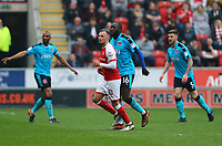 David Ball of Rotherham United during the Sky Bet League 1 match between Rotherham United and Fleetwood Town at the New York Stadium, Rotherham, England on 7 April 2018. Photo by Leila Coker.