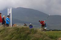 Amelia Garvey (NZL) on the 6th tee during the Matchplay Final of the Women's Amateur Championship at Royal County Down Golf Club in Newcastle Co. Down on Saturday 15th June 2019.<br /> Picture:  Thos Caffrey / www.golffile.ie