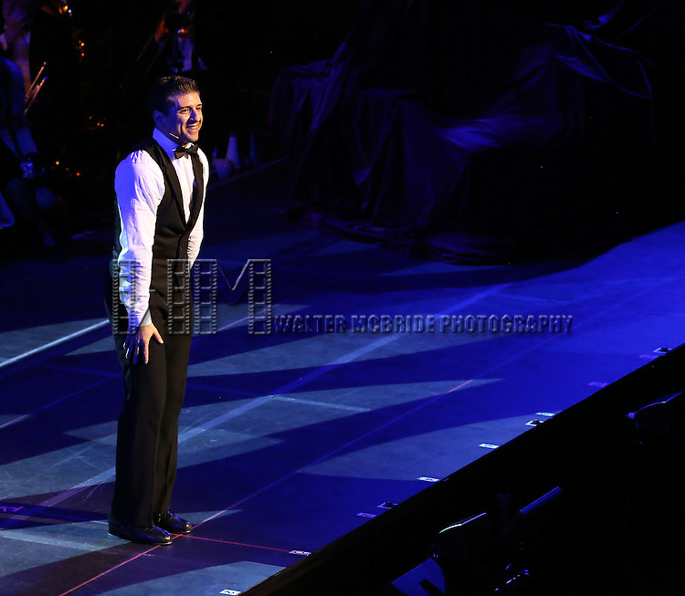"Tony Yazbeck during the Manhattan Concert Productions 25th Anniversary concert performance of ""Crazy for You"" at David Geffen Hall, Lincoln Center on February 19, 2017 in New York City."