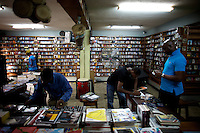 The owner of the jazz hole, a prominent record store waits for curstomers in Nigeria's capital Lagos on Saturday March 28 2009..