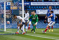 Paris Cowan-Hall of Wycombe Wanderers scores the 1st goal during the FA Cup 1st round match between Portsmouth and Wycombe Wanderers at Fratton Park, Portsmouth, England on the 5th November 2016. Photo by Liam McAvoy.