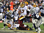 Landover, MD - November 16, 2008 -- Washington Redskins quarterback Jason Campbell (17) scrambles for a 22 yard gain in the second quarter against the Dallas Cowboys at FedEx Field in Landover, Maryland on Sunday, November 16, 2008.  The Redskins lost the game 14 - 10..Credit: Ron Sachs / CNP