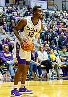 University at Albany men's basketball defeats Binghamton University 71-54  at the  SEFCU Arena, Feb. 27, 2018. Devonte Campbell (#12). (Bruce Dudek / Cal Sport Media/Eclipse Sportswire)