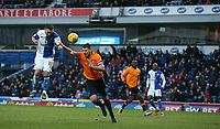 Blackburn Rovers' Adam Armstrong and Oldham Athletic's Anthony Gerrard<br /> <br /> Photographer Stephen White/CameraSport<br /> <br /> The EFL Sky Bet League One - Blackburn Rovers v Oldham Athletic - Saturday 10th February 2018 - Ewood Park - Blackburn<br /> <br /> World Copyright &copy; 2018 CameraSport. All rights reserved. 43 Linden Ave. Countesthorpe. Leicester. England. LE8 5PG - Tel: +44 (0) 116 277 4147 - admin@camerasport.com - www.camerasport.com