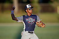 Nasim Nunez during the WWBA World Championship at the Roger Dean Complex on October 20, 2018 in Jupiter, Florida.  Nasim Nunez is a shortstop from Lawrenceville, Georgia who attends Collins Hill High School and is committed to Clemson.  (Mike Janes/Four Seam Images)