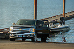 Chevy at dock launching boat.