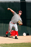 Tyler Cline - Cincinnati Reds 2009 Instructional League. .Photo by:  Bill Mitchell/Four Seam Images..