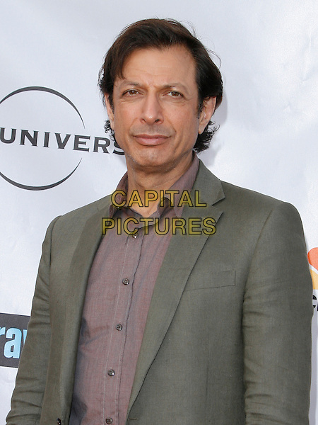 JEFF GOLDBLUM . arriving at the The Cable Show 2010 To Feature An Evening With NBC Universal held at  Universal Studios Hollywood in Universal City, California, USA, .May 12th, 2010..half length grey gray green suit shirt .CAP/ROT/AMB.©Adriana M. Barraza /Roth Stock/Capital Pictures