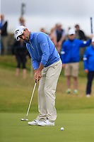 Oliver Wilson (ENG) birdie putt on the 16th green during Saturday's Round 3 of the Dubai Duty Free Irish Open 2019, held at Lahinch Golf Club, Lahinch, Ireland. 6th July 2019.<br /> Picture: Eoin Clarke | Golffile<br /> <br /> <br /> All photos usage must carry mandatory copyright credit (© Golffile | Eoin Clarke)