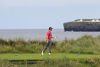 John-Ross Galbraith (Whitehead) on the 4th tee during Matchplay Round 1 of the South of Ireland Amateur Open Championship at LaHinch Golf Club on Friday 22nd July 2016.<br /> Picture:  Golffile | Thos Caffrey<br /> <br /> All photos usage must carry mandatory copyright credit   (© Golffile | Thos Caffrey)