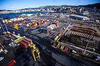 CentrePort operations in Wellington, New Zealand on Saturday, 18 April 2020. Photo: Dave Lintott / lintottphoto.co.nz