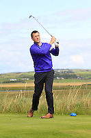 Eoghan Murphy (Cork) on the 13th tee during Round 2 of The South of Ireland in Lahinch Golf Club on Sunday 27th July 2014.<br /> Picture:  Thos Caffrey / www.golffile.ie