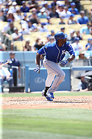 07/09/17 Los Angeles, CA : Kansas City Royals center fielder Lorenzo Cain #6 during an MLB game between the Los Angeles Dodgers and the Kansas City Royals played at Dodger Stadium.