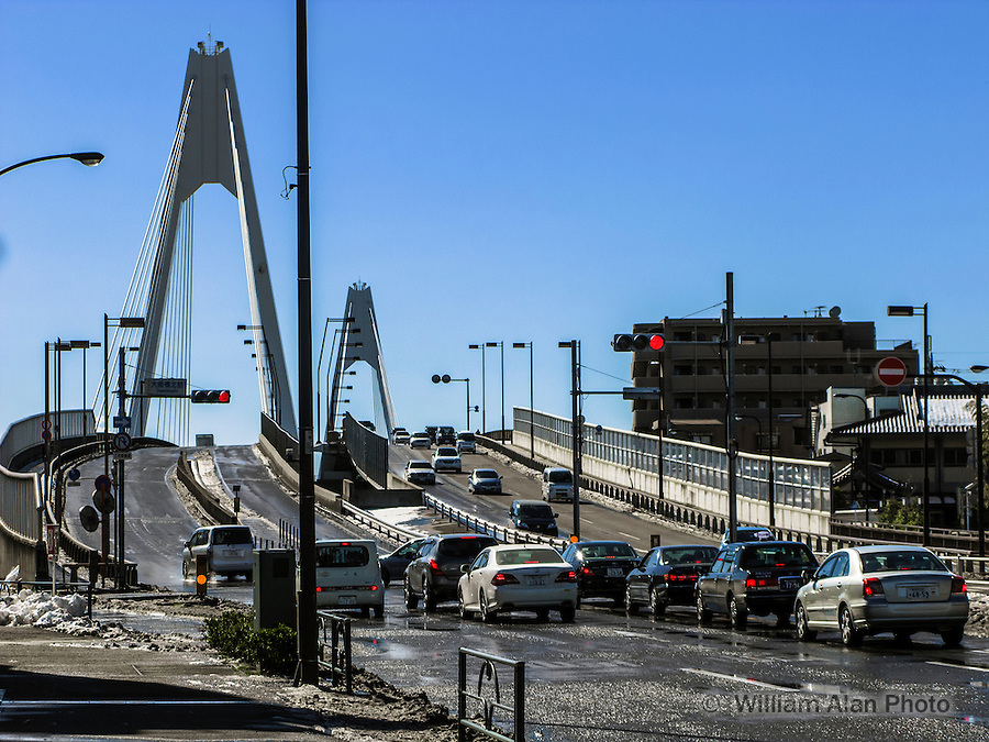 Daishi Bridge over Tama River on Sangyo Road in Ota, Japan 2014.
