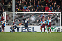Crewe equaliser<br />  - Scunthorpe United vs Crewe Alexandra - Sky Bet League One Football at Glanford Park, Scunthorpe, Lincolnshire - 13/12/14 - MANDATORY CREDIT: Mark Hodsman/TGSPHOTO - Self billing applies where appropriate - contact@tgsphoto.co.uk - NO UNPAID USE