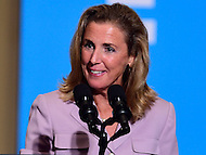 Philadelphia, PA - September 27, 2016: Katie McGinty, candidate for U.S. Senate, speaks during a campaign stop to support Hillary Clinton's presidential campaign at Drexel University in Philadelphia, Pennsylvania, September 27, 2016.  (Photo by Don Baxter/Media Images International)