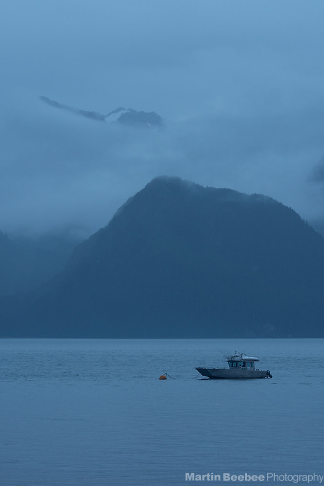 Fishing boat tied up on Resurrection Bay, Seward, Alaska