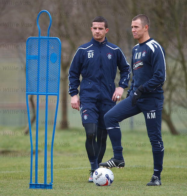 Barry Ferguson and Kenny Miller at training