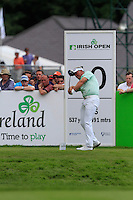Darren Clarke (NIR) on the 10th tee during Round 2 of the Irish Open at Fota Island on Friday 20th June 2014.<br /> Picture:  Thos Caffrey / www.golffile.ie