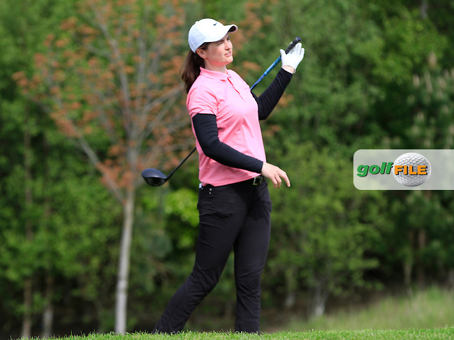 Danielle McVeigh (RCD Ladies) on the 7th tee during Round 1 of the Irish Women's Open Strokeplay Championship at Dun Laoghaire Golf Club on Saturday 23rd May 2015.<br /> Picture:  Thos Caffrey / www.golffile.ie