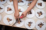 New York, NY - February 9, 2018: Chef Nicole Gajadhar of Saxon + Parole presents a dinner entitled Into The Wood And Out To Sea at the James Beard House.<br /> <br /> CREDIT: Clay Williams for The James Beard Foundation.<br /> <br /> &copy;Clay Williams / http://claywilliamsphoto.com