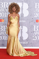 LONDON, UK. February 20, 2019: Chidera Eggerue arriving for the BRIT Awards 2019 at the O2 Arena, London.<br /> Picture: Steve Vas/Featureflash<br /> *** EDITORIAL USE ONLY ***