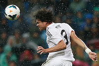 29.03.2014 SPAIN -  La Liga 13/14 Matchday 31th  match played between 5-0 Real Madrid CF vs Rayo Vallecano at Santiago Bernabeu stadium. The picture show Kepler Laveran Pepe (Portuguese/Brazilian defender of Real Madrid)