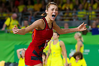 Picture by Alex Whitehead/SWpix.com - 15/04/2018 - Commonwealth Games - Netball - Coomera Indoor Sports Centre, Gold Coast, Australia - England's Helen Housby celebrates after defeating Australia in the Gold medal final.