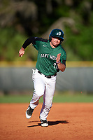 Dartmouth Big Green left fielder Hayden Rappoport (20) running the bases during a game against the Northeastern Huskies on March 3, 2018 at North Charlotte Regional Park in Port Charlotte, Florida.  Northeastern defeated Dartmouth 10-8.  (Mike Janes/Four Seam Images)