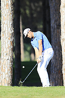 Nacho Elvira (ESP) chips onto the 10th green during Thursday's Round 1 of the 2018 Turkish Airlines Open hosted by Regnum Carya Golf &amp; Spa Resort, Antalya, Turkey. 1st November 2018.<br /> Picture: Eoin Clarke | Golffile<br /> <br /> <br /> All photos usage must carry mandatory copyright credit (&copy; Golffile | Eoin Clarke)