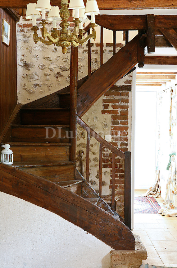 Rustic Wooden Spiral Staircase