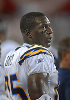 Aug 25, 2007; Glendale, AZ, USA; San Diego Chargers tight end Antonio Gates (85) against the Arizona Cardinals at University of Phoenix Stadium. San Diego defeated Arizona 33-31. Mandatory Credit: Mark J. Rebilas-US PRESSWIRE