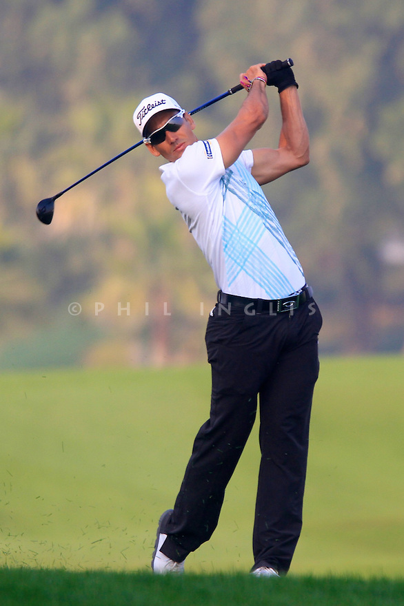 Rafael Cabrera-Bello (ESP) in action during the final round of the Commercial Bank Qatar Masters played at Doha Golf Club, Doha, Qatar. 22 - 25th January 2014 (Picture Credit / Phil Inglis)