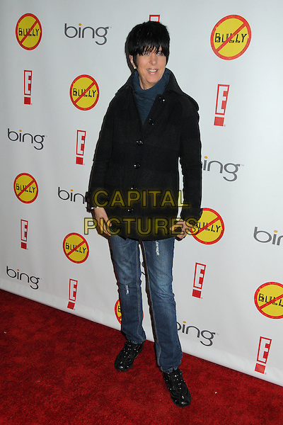 "Diane Warren.""Bully"" Los Angeles Premiere held at Grauman's Chinese 6 Theatre, Hollywood, California, USA..March 26th, 2012.full length jeans denim black jacket.CAP/ADM/BP.©Byron Purvis/AdMedia/Capital Pictures."