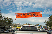 "Welcome banner across Colorado Blvd. near Eagle Rock Blvd. in Eagle Rock. It reads, ""Welcome back Oxy students Eagle Rock Chamber of Commerce council district 14"" Aug. 26, 2015.<br />