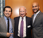 John Leguizamo, Gregory S. Hurst and Keegan-Michael Key attends the Theatre Forward Broadway Roundtable on February 2, 2018  at UBS in New York City.
