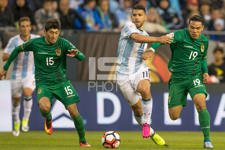 Seattle, Washington - Tuesday, June 14, 2016: Argentina defeated Bolivia 3-0 in Copa America Centenario at CenturyLink Field Stadium.