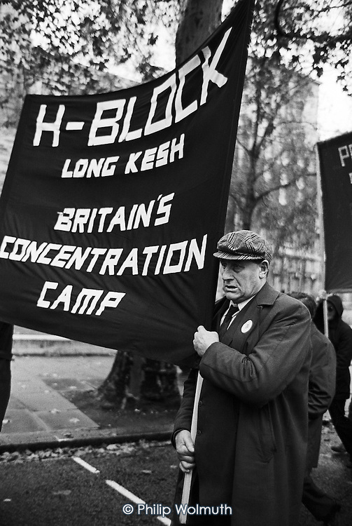 Committee for Withdrawal from Ireland march from Embankment to Camden Town, London.