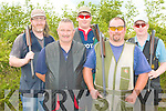Members of the Ballylongford Gun Club at the Knocknagoshel shooting grounds on Saturday l-r: Sean white, Buck Loughlin, Colm Dowling Paul Cunningham and Pat Dowling.