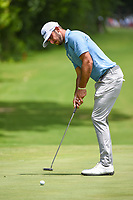 Max Homa (USA) watches his putt on 5 during round 2 of the 2019 Charles Schwab Challenge, Colonial Country Club, Ft. Worth, Texas,  USA. 5/24/2019.<br /> Picture: Golffile   Ken Murray<br /> <br /> All photo usage must carry mandatory copyright credit (© Golffile   Ken Murray)