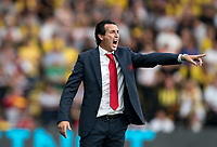 Arsenal manager Unai Emery during the Premier League match between Watford and Arsenal at Vicarage Road, Watford, England on 16 September 2019. Photo by Andy Rowland.