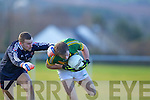 Donnchadh Walsh  Kerry in action against Andrew O'Donoghue Cork IT in the semi final of the McGrath Cup at John Mitchells Grounds on Sunday.