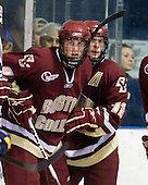 Brian Dumoulin (BC - 2), Ben Smith (BC - 12) - The Merrimack College Warriors defeated the Boston College Eagles 5-3 on Sunday, November 1, 2009, at Lawler Arena in North Andover, Massachusetts splitting the weekend series.