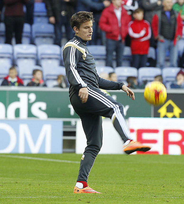Middlesbrough's Jelle Vossen<br /> <br /> Photographer Mick Walker/CameraSport<br /> <br /> Football - The Football League Sky Bet Championship - Wigan Athletic v Middlesbrough - Saturday 22nd November 2014 - DW Stadium - Wigan<br /> <br /> &copy; CameraSport - 43 Linden Ave. Countesthorpe. Leicester. England. LE8 5PG - Tel: +44 (0) 116 277 4147 - admin@camerasport.com - www.camerasport.com