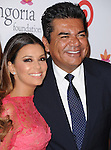 Eva Longoria and George Lopez attends The Annual Eva Longoria Foundation dinner held at Beso in Hollywood, California on September 28,2012                                                                               © 2013 DVS / Hollywood Press Agency